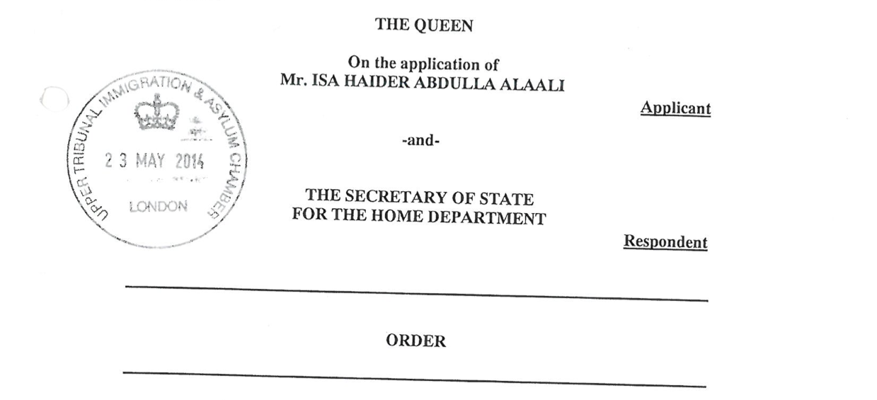 Isa Al Aali to Challenge Home Office Decision