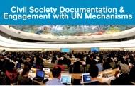 Event Alert: Civil Society Documentation & Engagement with UN Mechanisms