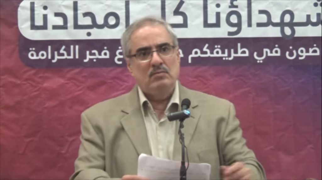 Ebrahim Sharif gave a speech condemning violence two days before his arrest.
