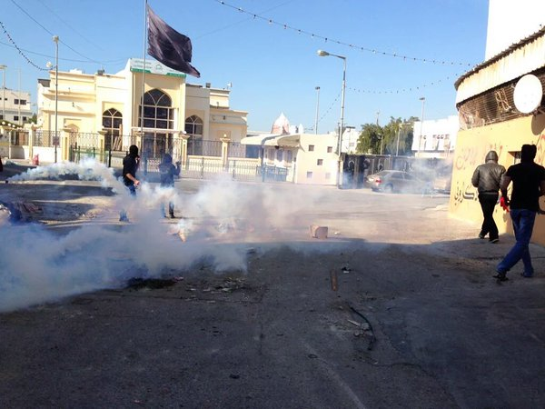 Tear gas was used to disperse protests