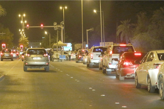 The Checkpoint on Budaiya Highway. Source: Al Wasat News