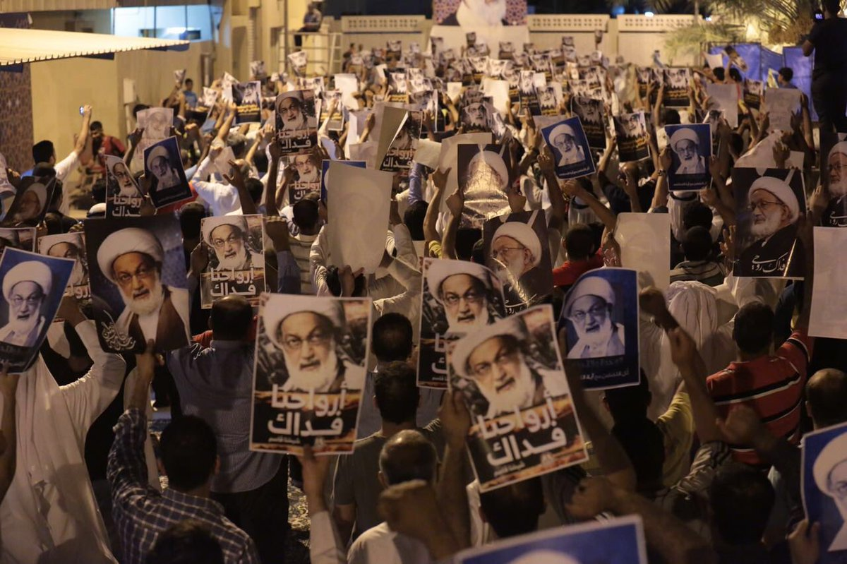 Protests in Duraz on 11 July. Source: Twitter