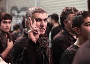 Nabeel Rajab on the day of his release from detention on bail, on November 2, 2014 in Manama, Bahrain. Captured by Ahmed Al-Fardan
