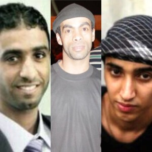 Left to right: Abbas Al-Samea, Sami Mushaima and Ali Al-Singace were tortured, unfairly tried and executed.