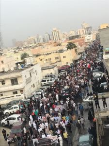 Large crowds attended Mohammad Sahwan's funeral.