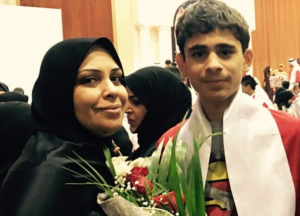 Hajar Mansoor Hassan and her son Sayed Nizar Alwadaei (both pictured), as well as a cousin, Mahmood Marzooq, face upwards of three years in prison on 30 October on trumped up charges