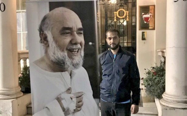 London: Bahraini hunger striker is in the second week of his protest outside the Embassy. Green Party demands Foreign Office intervention